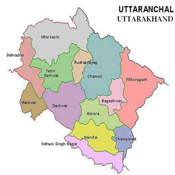 Uttarakhand Political Map