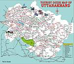 Uttarakhand Tourism Map